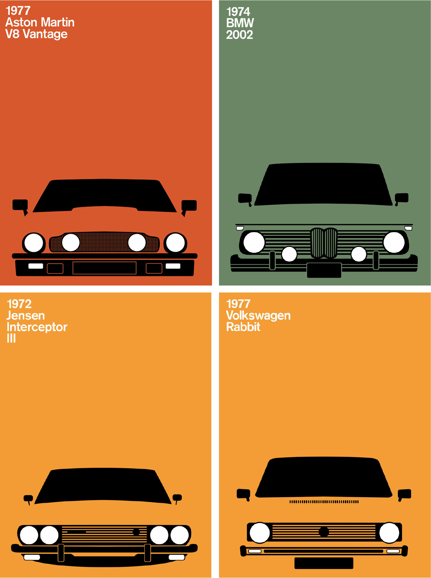 1970s cars from Print Collective