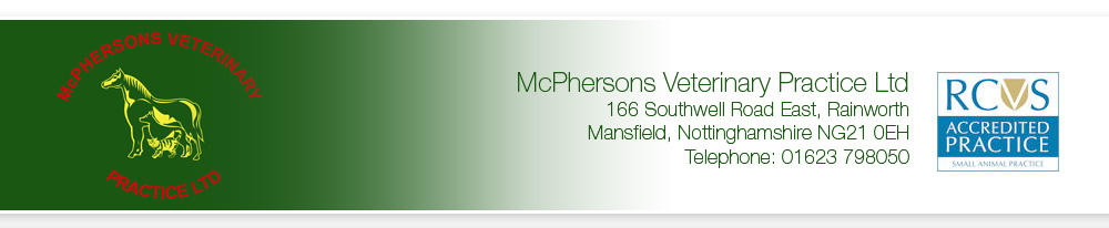 Client Feedback Form | Mcphersons Vets Mansfield Rainsworth