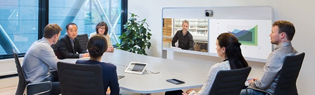 Professional Video Conferencing Solutions, Cisco MX700 in business meeting